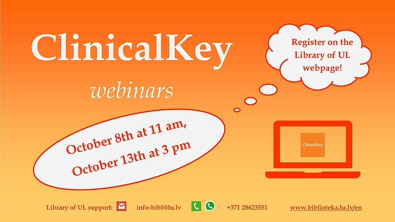 An online training session for the Elsevier database ClinicalKey